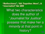reflections all together now journalist for 200