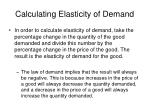 calculating elasticity of demand
