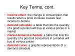 key terms cont