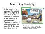 measuring elasticity