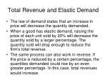 total revenue and elastic demand