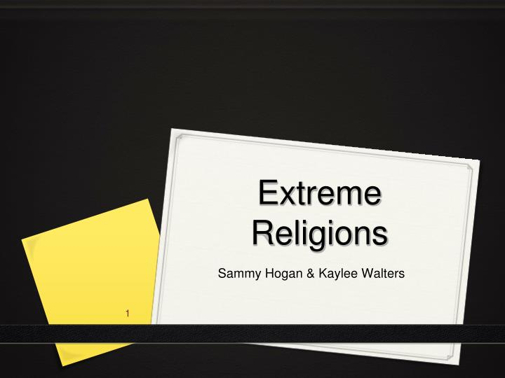 extreme religions n.