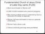 fundamentalist church of jesus christ of latter day saints flds