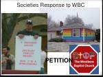 societies response to wbc