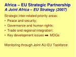 africa eu strategic partnership a joint africa eu strategy 2007