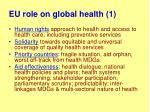 eu role on global health 1