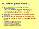 eu role on global health 2