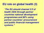 eu role on global health 3