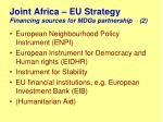 joint africa eu strategy financing sources for mdgs partnership 2