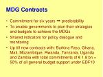 mdg contracts