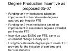 degree production incentive as proposed 05 07