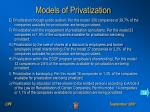 models of privatization1