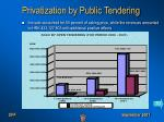 privatization by public tendering