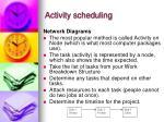 activity scheduling