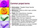 common project terms