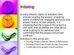 initiating
