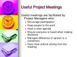 useful project meetings