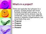 what s in a project