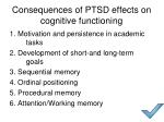 consequences of ptsd effects on cognitive functioning