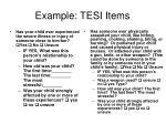 example tesi items