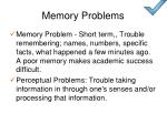 memory problems