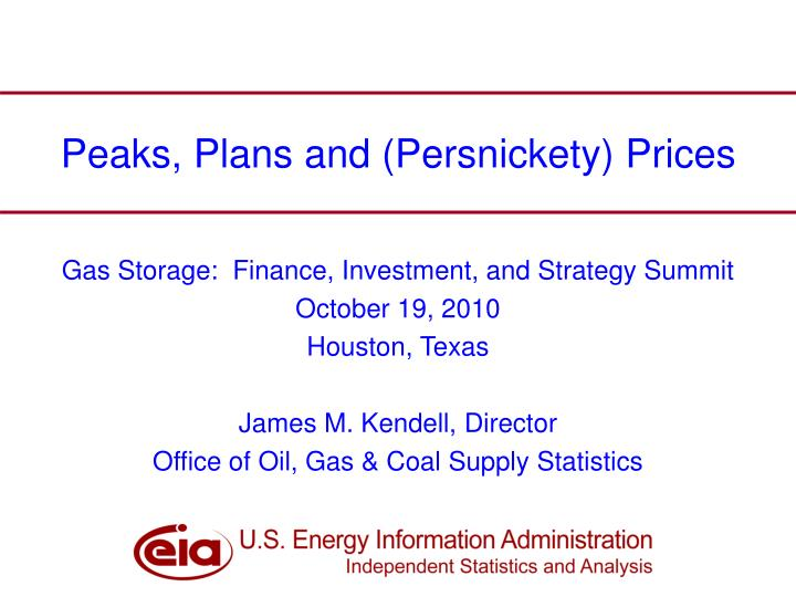 peaks plans and persnickety prices n.