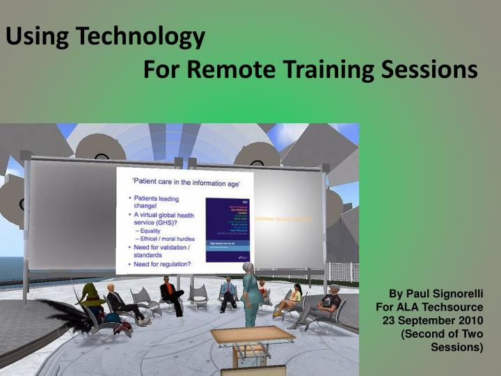 using technology for remote training sessions n.