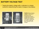 battery voltage test