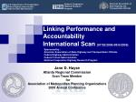 linking performance and accountability international scan 07 25 2009 08 9 2009