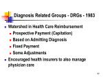 diagnosis related groups drgs 1983
