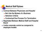 medical staff bylaws