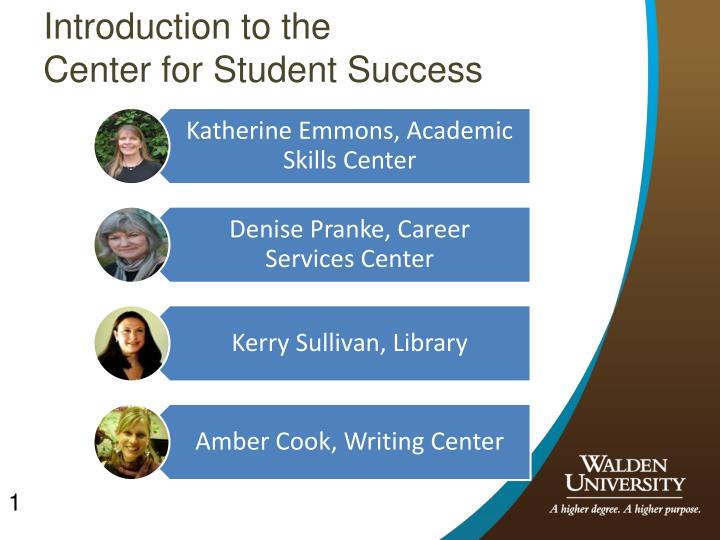 introduction to the center for student success n.