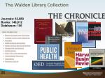 the walden library collection