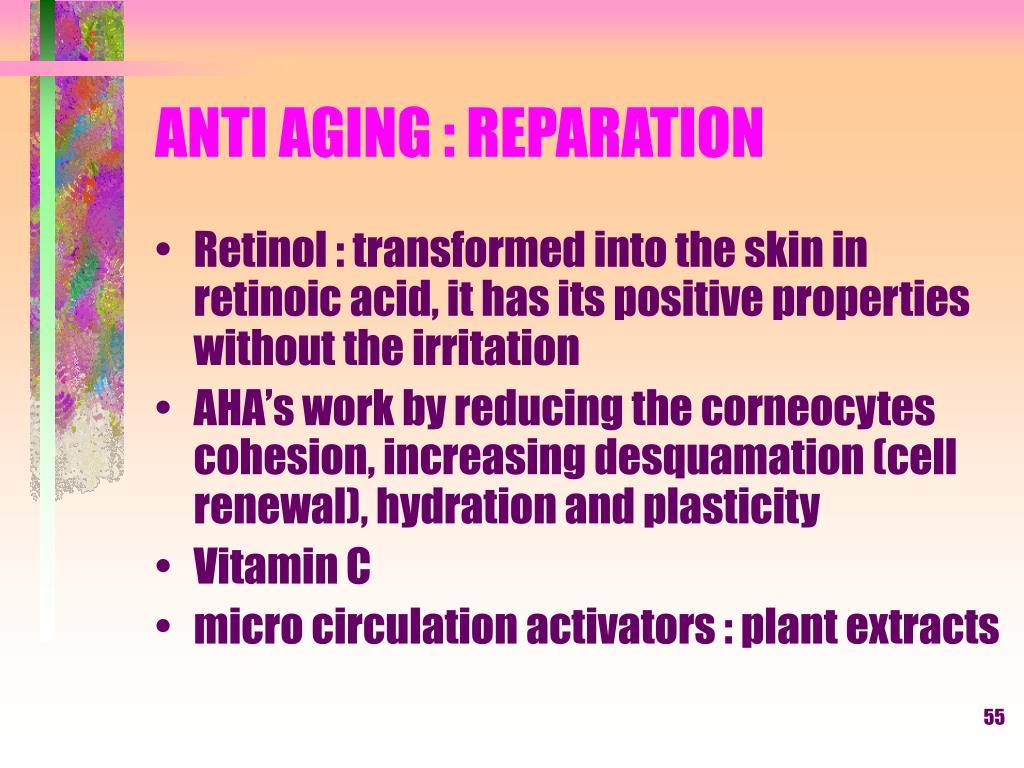 ANTI AGING : REPARATION
