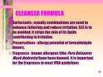 cleanser formula23