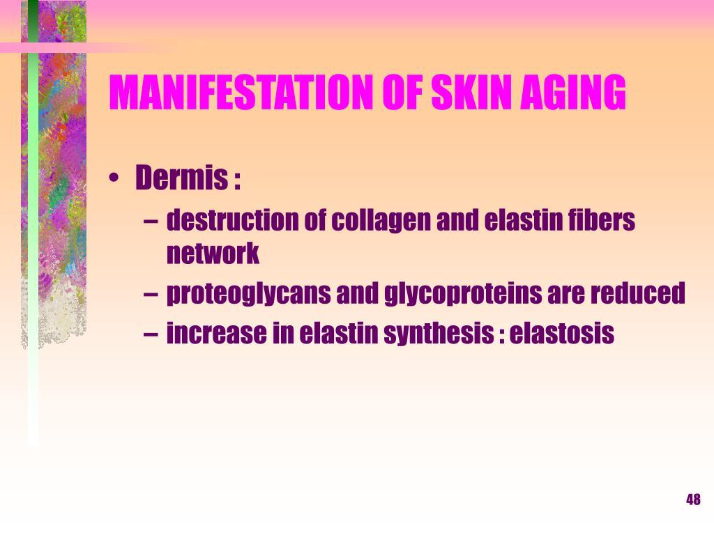 MANIFESTATION OF SKIN AGING