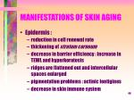 manifestations of skin aging