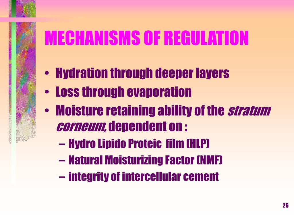 MECHANISMS OF REGULATION
