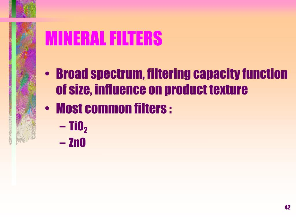 MINERAL FILTERS