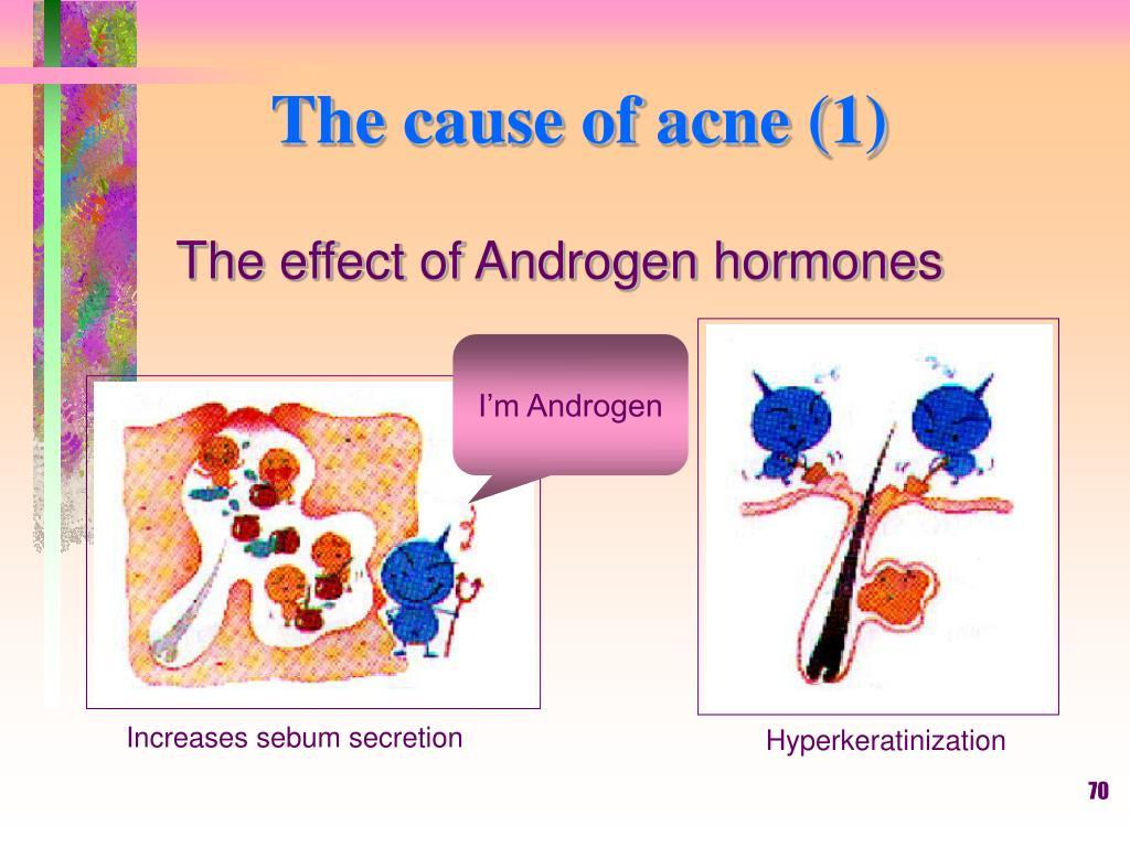 Increases sebum secretion