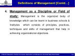 definitions of management contd2