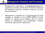 management systems and processes1