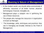 meaning nature of management1