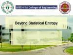 beyond statistical entropy