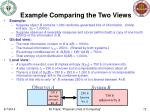 example comparing the two views