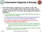 information capacity entropy
