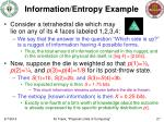 information entropy example