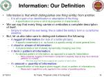information our definition