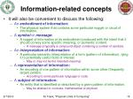 information related concepts