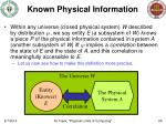 known physical information